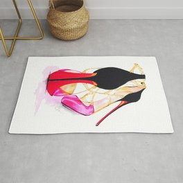Red Sole Rug