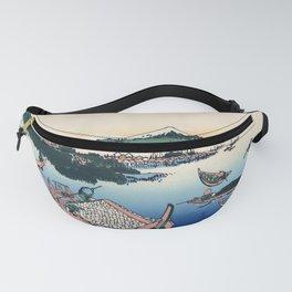Katsushika Hokusai - 36 Views of Mount Fuji (1832) - 29: Tsukuda Island in Musashi Province Fanny Pack
