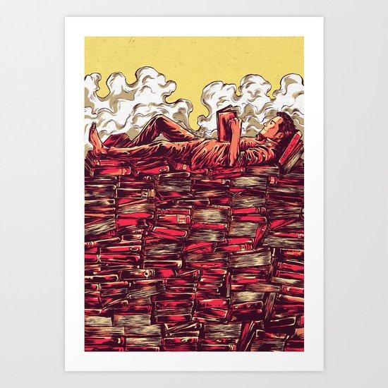 The Book Lover Art Print