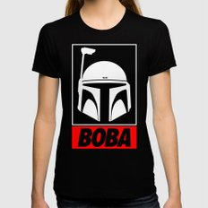 Defy-Boba Black Womens Fitted Tee LARGE