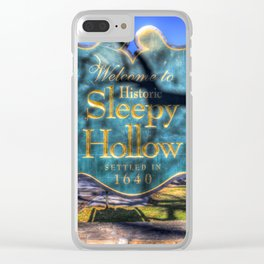 Sleepy Hollow Village Sign Clear iPhone Case