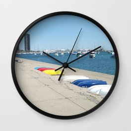 Chicago, Chicago shoreline, Skyline, Lake Michigan Wall Clock