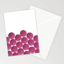 Isolated Pink Pills Texture Stationery Cards