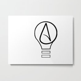 atheist Metal Print
