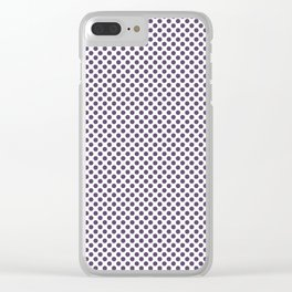 Loganberry Polka Dots Clear iPhone Case