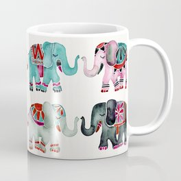 Elephant Collection – Turquoise & Coral Palette Coffee Mug