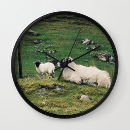 Skye's Sheep Wall Clock