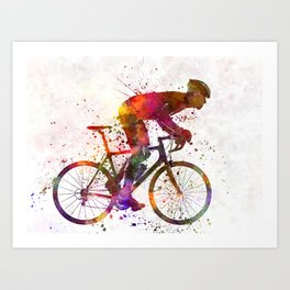 cyclist road bicycle Art Print