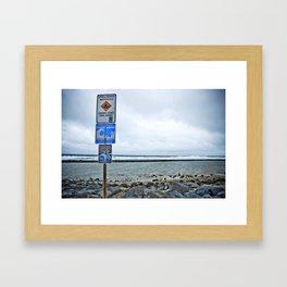 slow mo Framed Art Print