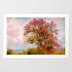 Romantic autumn Art Print