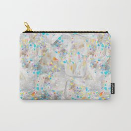 Abstract White Quartz in Rainbow Aura Carry-All Pouch