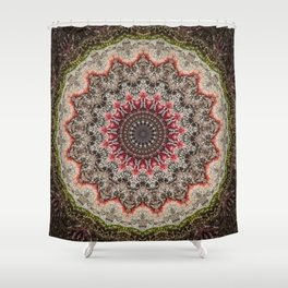 Trichome Crystal Portal Shower Curtain