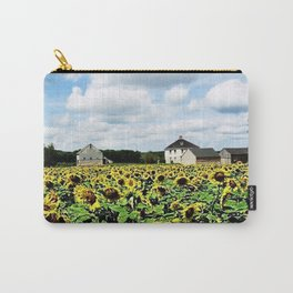 New England Sunflower fields and barns by Jéanpaul Ferro Carry-All Pouch