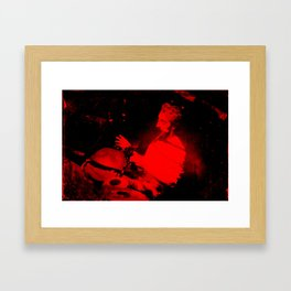 red tabla Framed Art Print