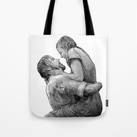 notebook Tote Bags featuring notebook by BzPortraits
