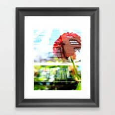 Six Story Dahlia Framed Art Print