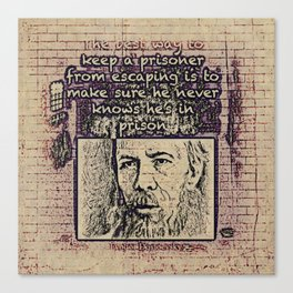 Dostoevsky Canvas Print
