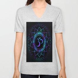 Om Mandala: Colorful Galaxy Unisex V-Neck