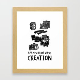 Weapons Of Mass Creation - Photography (clean) Framed Art Print