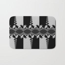 Black and Silver Fractal Bath Mat