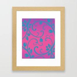 Thyroid Disease Awareness: Floral Framed Art Print