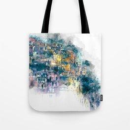 Houses village coast Italy Tote Bag
