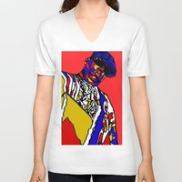 biggie V-neck T-shirts featuring BIGGIE by Fake Wealth