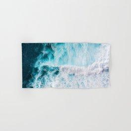 Blue Ocean Waves Foam Hawaiian Beach Warm Summer Water Wave Hand & Bath Towel