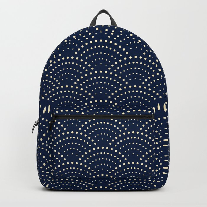 Japanese Blue Wave Seigaiha Indigo Super Moon Pattern Rucksack