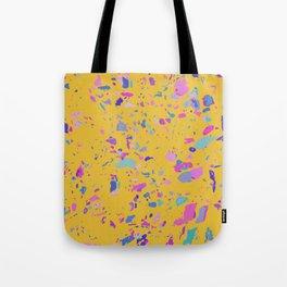 Bright Yellow Terrazzo Tote Bag