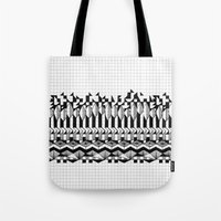 notebook Tote Bags featuring School notebook 2 by Eva Bellanger