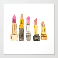 lipstick Canvas Prints featuring Lipstick by Sweet Colors Gallery