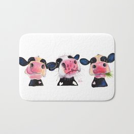 CoW PRiNT ' THe NoSeY CoWS ' BY SHiRLeY MacARTHuR Bath Mat