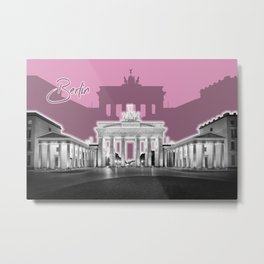 BERLIN Brandenburg Gate | Graphic Art | ink Metal Print