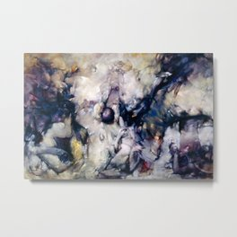 'Dogs of Cythera' Abstract Marble Surreal Masterpiece by D. Tanning Metal Print