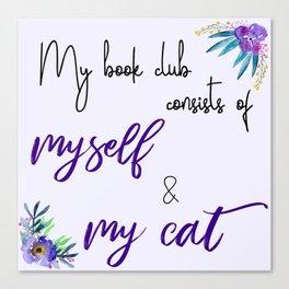 My Book Club Canvas Print