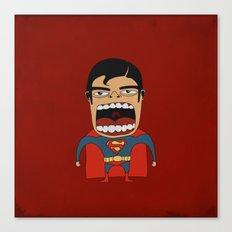 Screaming Superdude Canvas Print