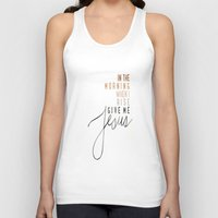 jesus Tank Tops featuring Jesus by I Love Decor