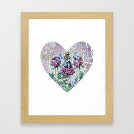 Alice In Wonderland - Wonderland Garden - Heart Shape Framed Art Print