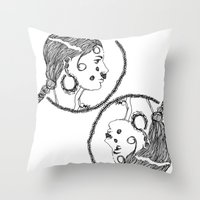 givenchy Throw Pillows featuring Givenchy FW15 by I disegni di Mae