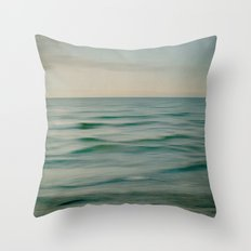 sea square V Throw Pillow