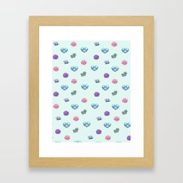 Happy Succulents Framed Art Print