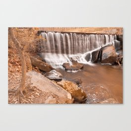 Rustic Rock Run Falls Canvas Print
