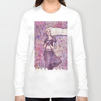 daenerys Long Sleeve T-shirts featuring Waiting by Verismaya