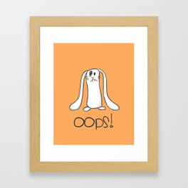 Oops!!! Framed Art Print