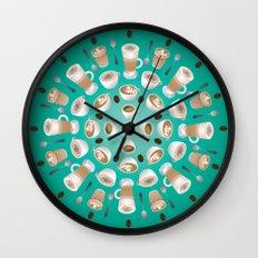 Coffee Kaleidoscope Wall Clock