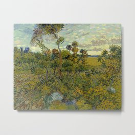 Vincent van Gogh - Sunset at Montmajour Metal Print