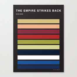 The colors of StarWars - The empire strikes back episode 5 Canvas Print