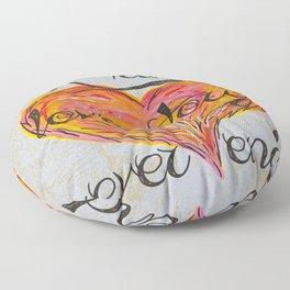 Love Story Floor Pillow