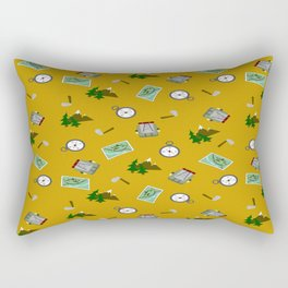 Hiking Pattern Rectangular Pillow